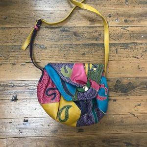 Vintage 80's patchwork bag
